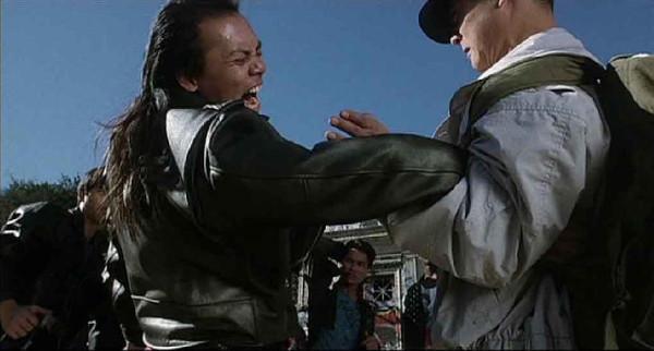 John Kreng (left) tussles with Jet Li in The Master (1989)