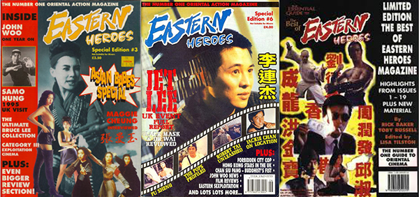 Examples of Eastern Heroes publications.