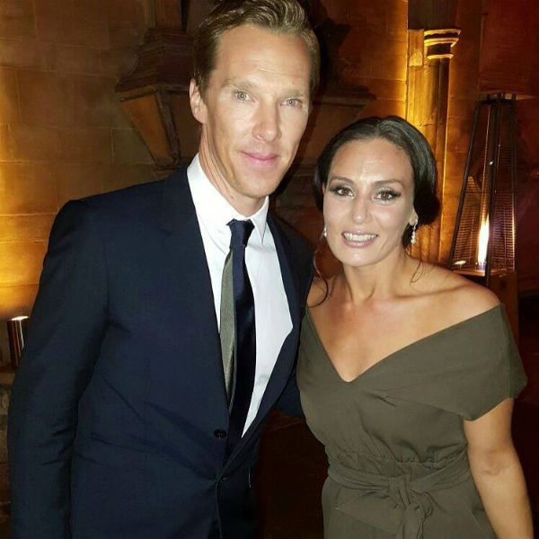 Benedict Cumberbatch and Zara Phythian at the premiere of Doctor Strange in October 2016.