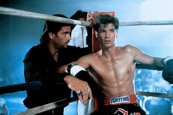 Lorenzo Lamas and Michael Worth in Final Impact (1991)