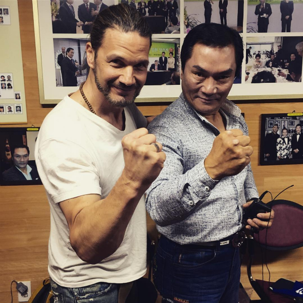 Michael Worth and Dragon Lee during filming for Michael's upcoming Bruceploitation documentary.