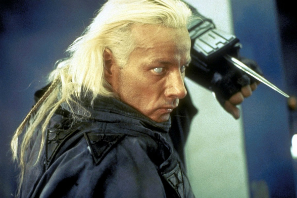 Matthias Hues as the alien Talec in the 1990 Dolph Lundgren film, Dark Angel (aka I Come in Peace).