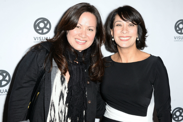 Bruce Lee's daughter, Shannon Lee, with Diana Lee Inosanto at the Celebrating Bruce Lee event on 15 November 2015 in Los Angeles.
